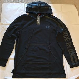 True Religion Hooded Varsity Pullover New with Tag